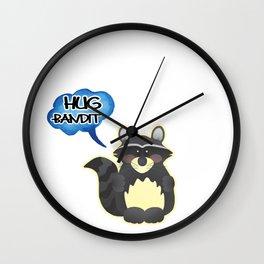 Raccons Raton  Coonskin Woodchucks  Ringtail GIft  Wall Clock
