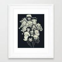 manga Framed Art Prints featuring Manga Dwarves by artistjerrybennett