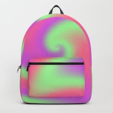 Tutti Frutti Ribbon Candy Fractal Backpack