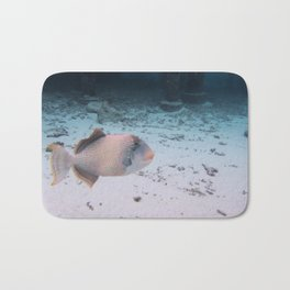 Maldives Wildlife Coral Fish In Turquoise sea Bath Mat