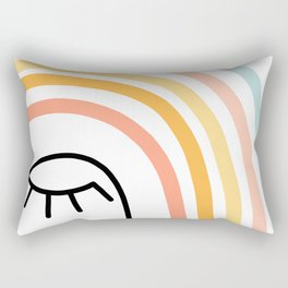 Rainbow State of Mind - pastel Rectangular Pillow