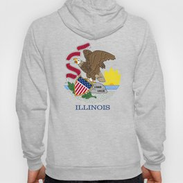 Illinois State Flag, authentic color & scale Hoody