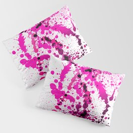 Magenta Madness - Abstract Splatter Style Pillow Sham