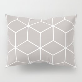 Cube Geometric 03 Grey Pillow Sham