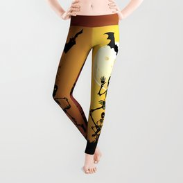 Skeletons Macabre Dance Leggings