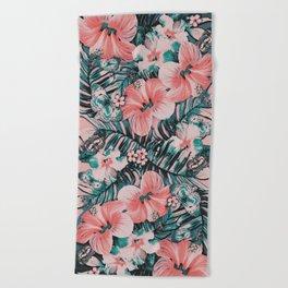 Vintage Jade Coral Aloha Beach Towel