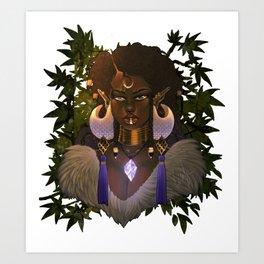 Tribal Elf Princess Art Print