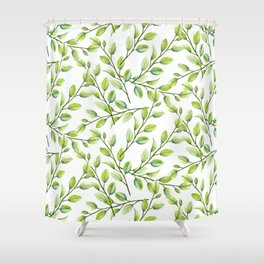 Branches and Leaves Shower Curtain