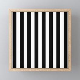 Classic Black and White Football / Soccer Referee Stripes Framed Mini Art Print