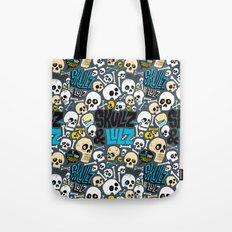 Skullz & Lulz Pattern Tote Bag