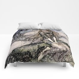 "Arthur Rackham Fairy Art from ""Undine"" Comforters"