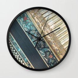 Accordion   Vintage Photography   Antiques   Blue   Vintage Instruments   Vintage Art Prints   Rustic  Wall Clock