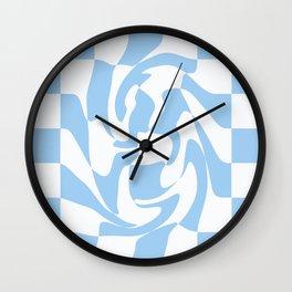 Checker Swirl  Wall Clock