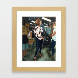 Waiting on a Train Framed Art Print