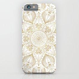 Boho Chic gold mandala design iPhone Case