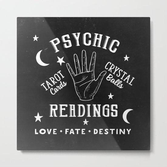 Psychic Readings Fortune Teller Art Metal Print