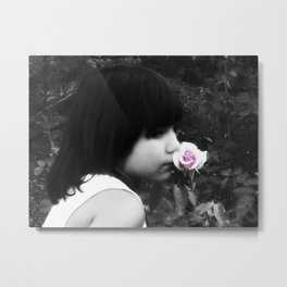 Rose Garden and a Child Metal Print