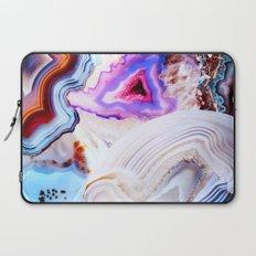 Agate, a vivid Metamorphic rock on Fire Laptop Sleeve