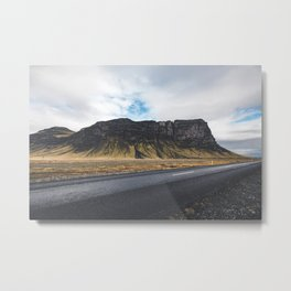 A Mountain on the Left. Iceland Landscape. Roadtrip Travel. Photography. Metal Print
