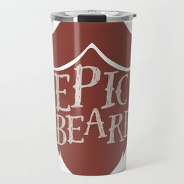 Epic Beard red Travel Mug