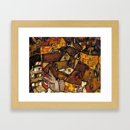 "Egon Schiele ""Krumau - Crescent of Houses (The small City V)"" Framed Art Print"