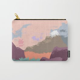 Pink Sky Mountain Carry-All Pouch