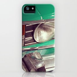 Vintage 1970s car photo print iPhone Case