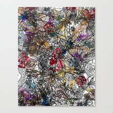 Floral Abstract Retro Inspired Canvas Print