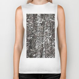 Realistic Winter Woodlands Forest 3D Camo Pattern Biker Tank