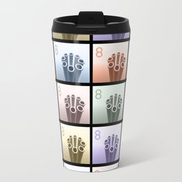 Eight Pop Art Cylinders Travel Mug