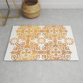 Gold Mandala Pattern Rug