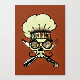 Cook or die!Chef's skull Canvas Print