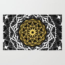Mandala- Yellow Rug