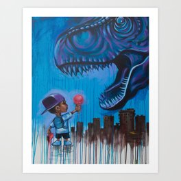 Don't Feed Rex Art Print