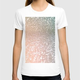 Rosequartz Rose Gold glitter - Pink Luxury glitter sparkling design T-shirt