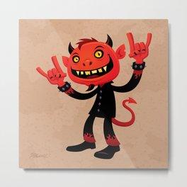 Heavy Metal Devil Metal Print