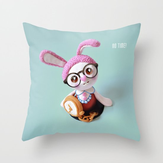No time! Throw Pillow