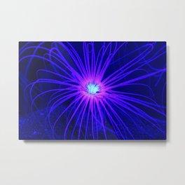 Anemone Under UV Light Metal Print