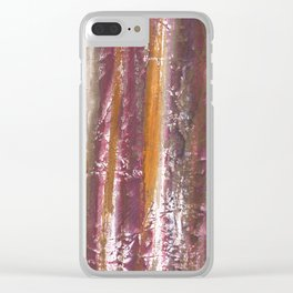 Abstract striped painted Clear iPhone Case