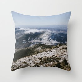 Cannon Mountain from Mt. Lafayette Throw Pillow