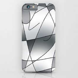 ABSTRACT CURVES #2 (Grays) iPhone Case