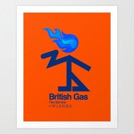 006 BRITISH GAS Art Print