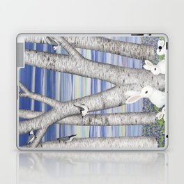 nuthatches, bunnies, and birches Laptop & iPad Skin