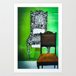 Too many chairs. Art Print