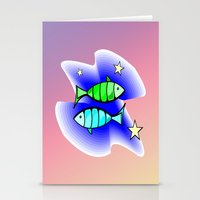 astrology Stationery Cards featuring Astrology, Aquarius by Karl-Heinz Lüpke