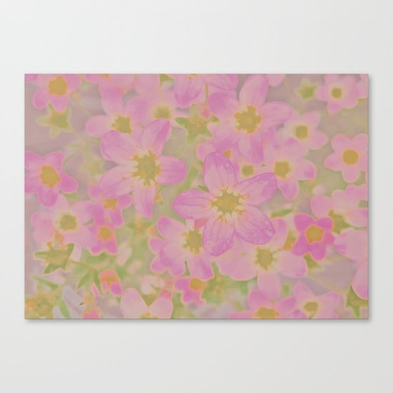 Pink Floral, The Earth Laughs In Flowers Canvas Print