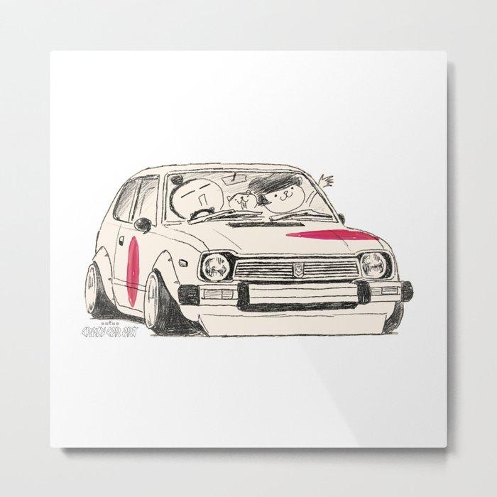 Crazy Car Art 0163 Metal Print