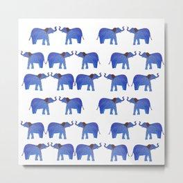 Happy Elephant Metal Print