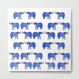 Happy Elephant Metal Print