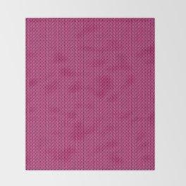 Knitted spring colors - Pantone Pink Yarrow Throw Blanket